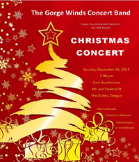 2013 GWCB Christmas Concert Flyer