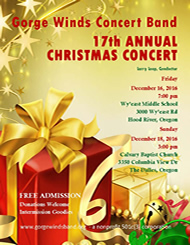 2016 GWCB Christmas Concert Flyer