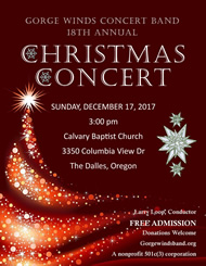2017 Christmas Concert Flyer