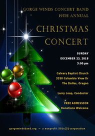 2018 Christmas Concert Flyer
